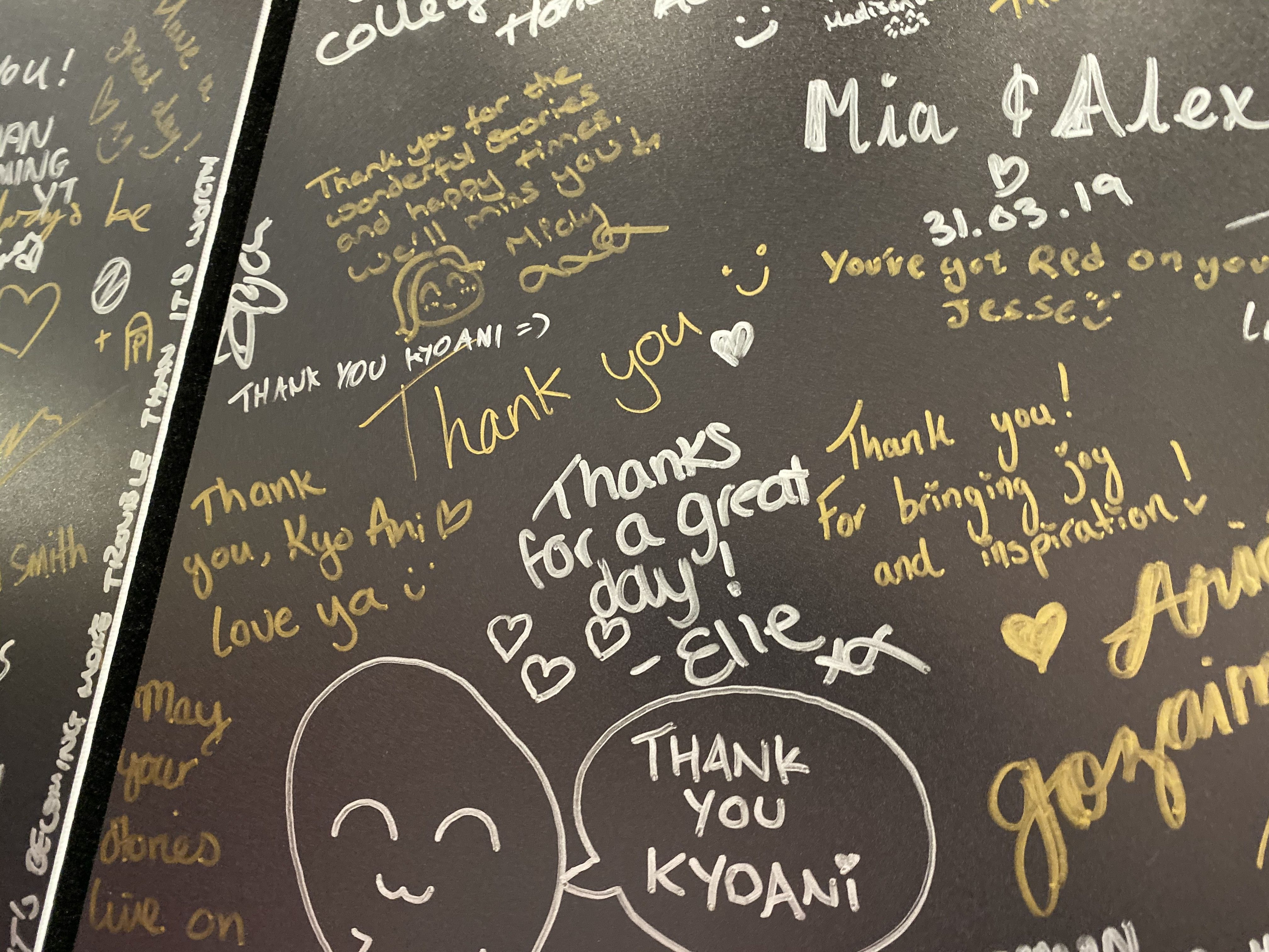 Jase\'s thank you message for KyoAni (equals smiley)